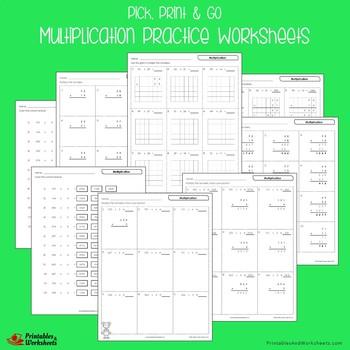 Multiplication Practice Worksheets
