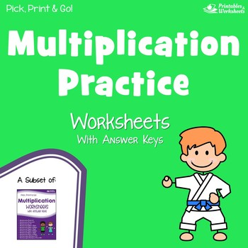 Multiplication Sheets for Practice and Quiz