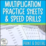 Multiplication Practice Sheets and Speed Drills