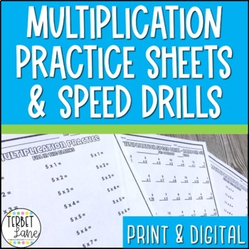 Multiplication Speed Drills Teaching Resources | Teachers Pay Teachers