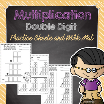 Multiplication Practice Sheets and Work Mat - Double Digit
