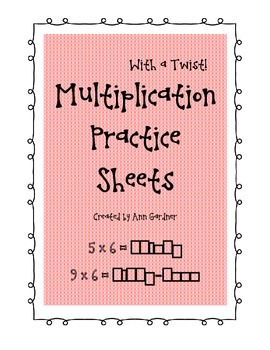 Multiplication Practice Sheets - with a Twist - Spell the Product!
