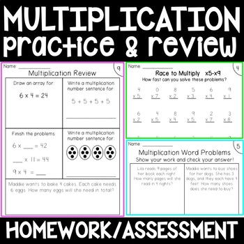 Multiplication Practice / Skill Reivew {factors, word prob