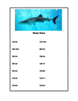 Multiplication and Division Practice Tables 1-10  Australian Animals Worksheets