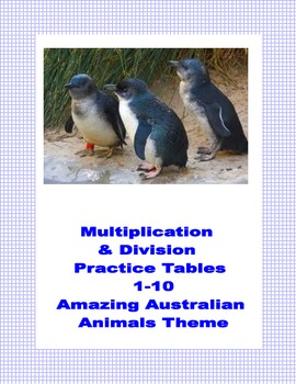 Multiplication and Division Practice Tables 1-10  Australi