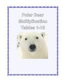 Multiplication Practice Tables   1-10  Printable Worksheets Polar Bear Theme