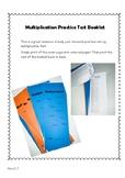 Multiplication Practice Test Booklet