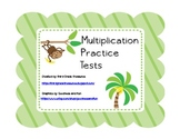 Multiplication Practice Tests