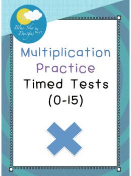Multiplication Practice - Timed Tests (0-15)
