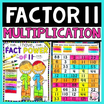 Multiplication Facts Packet Multiplying by 11