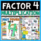 Multiplication Facts Practice and Fluency Activities for Times 4