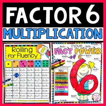 Multiplication Facts Packet Multiplying by 6