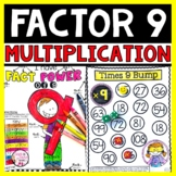 Multiplication Facts Packet Multiplying by 9