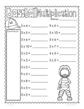 Multiplication Practice Times Tables Printables