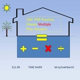 MathBar10 Multiplication Practice Whole Numbers