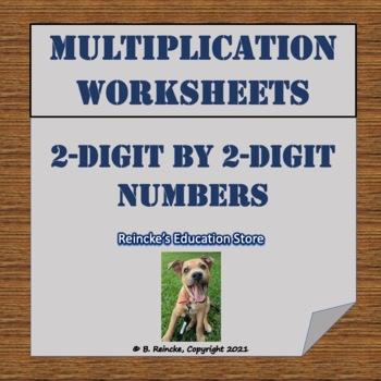 Multiplication (2-digit by 2-digit) Practice Worksheets (2 worksheets)