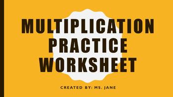 Multiplication Practice Worksheet