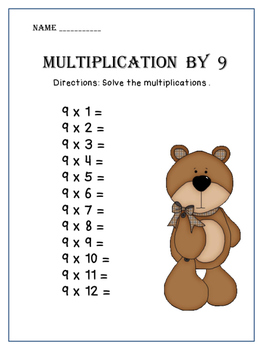 Multiplication Practice Worksheets from 1 to 12  CCSS.MATH.CONTENT.3.OA.A.1