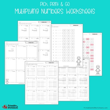 Multiplying Numbers Worksheets, Practice Multiplication Sheets