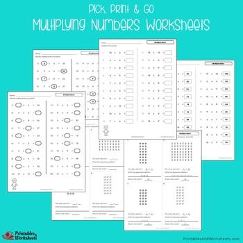 Multiplying Multidigit Numbers, Multiplication Remediation Worksheets