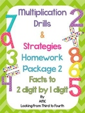 Multiplication Practice and Strategy Posters - Facts to 2 digit by 1 digit