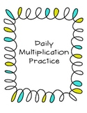 Multiplication Practice for factors 2-10
