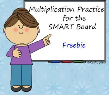Multiplication Practice for the SMART Board:  Freebie!