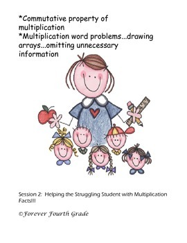 Multiplication Practice for the Struggling Student Session 2
