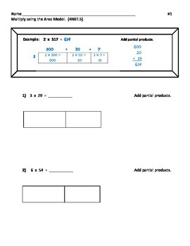Multi-digit Multiplication Practice with Multiple Strategies