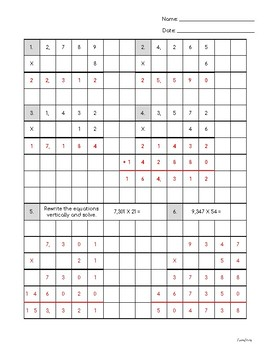 Multiplication Practice with four-digits