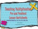 Multiplication Pre/Post Test, Unit Worksheets, & Posters