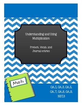 Common Core Multiplication Resource Kit: Pretest, Vocab ca