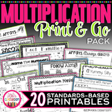 Multiplication Facts Practice - Print & Go Multiplication Activities 3rd Grade