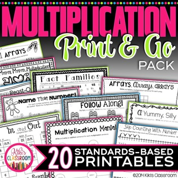 Multiplication Fact Practice - Worksheets, Activities, Strategies, Math Centers