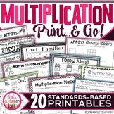 Multiplication Fact Practice - Worksheets, Activities, Str