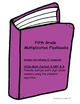 Multiplication Printables--Common Core Aligned Flashbacks/Bell Ringers