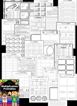 Multiplication Activities: Multiplication Worksheets and Printables