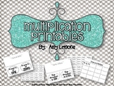 Multiplication Printables