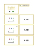 Multiplication Problem Card Set - 1, 2, 3, & 4 Digit Multipliers
