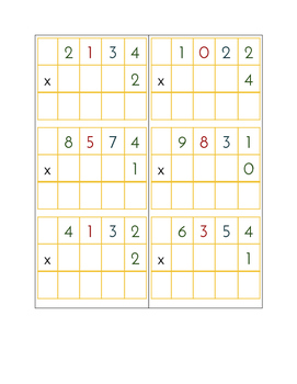 Multiplication Problem Set - 72 Static & Dynamic Multiplication Problems