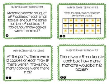 Multiplication Problem Solving for 3rd Grade