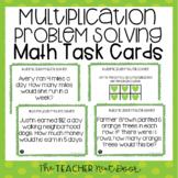 3rd Grade Multiplication Problem Solving Task Cards