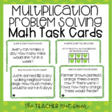 3rd Grade Multiplication Problem Solving Task Cards