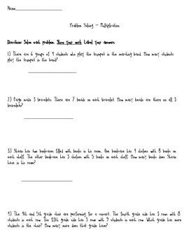 Multiplication Problem Solving Bundle