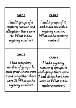 Multiplication Problem Solving Cards