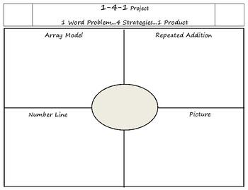 Multiplication Problem Solving Graphic Organizer