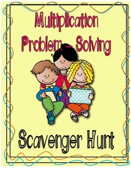 Multiplication Problem - Solving Scavenger Hunt Game