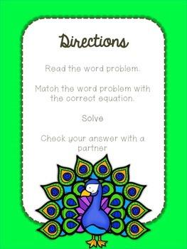 Multiplication Problem Solving Task Card Match Up