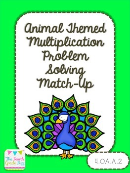 Multiplication Problem Solving Task Card Match Up