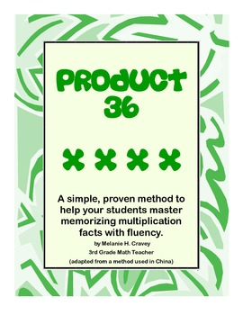 Multiplication Facts Mastery & Fluency for Common Core: Product 36